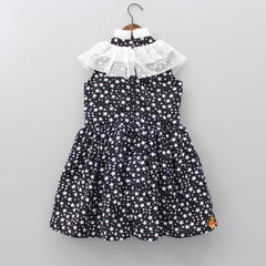 Black Star Print Dress