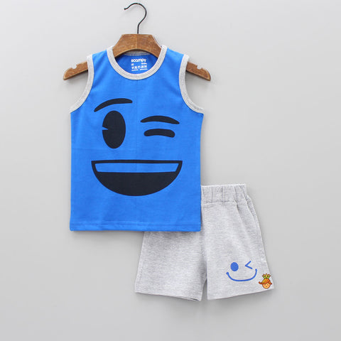 Winking Eye Vest With Shorts