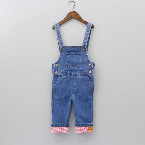 Denim Dungaree With Pockets