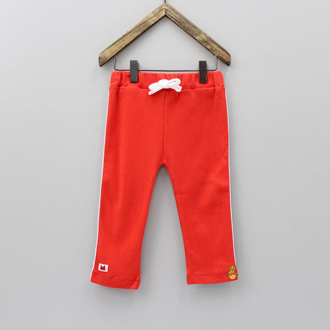 Red Organic Cotton Joggers Pant