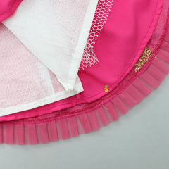 Pre Order: Hot Pink Lehenga With Multi Coloured Dupatta