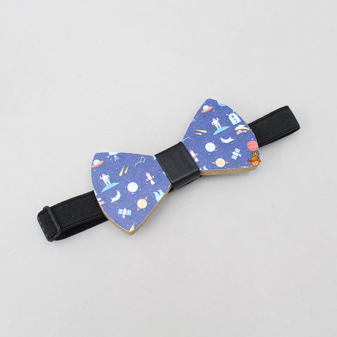 Wooden Space Print Bow