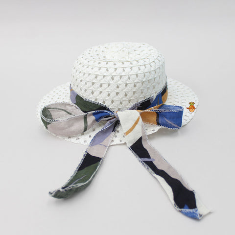 White Knotty Hat