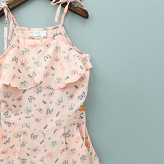 Peach Butterfly Jumpsuit