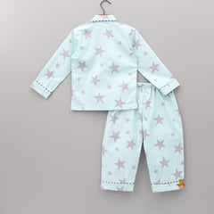 Grey Star Print Sleepwear