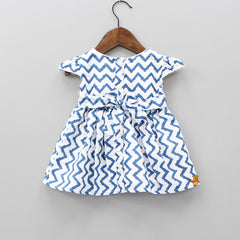Zig - Zag Print Dress