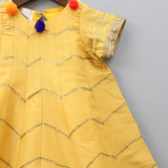 Pre Order: Mustard Yellow Anarkali Dress