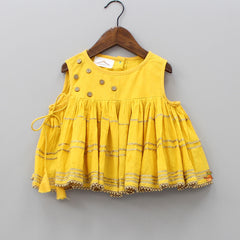 Pre Order: Yellow Gather Top With Sharara