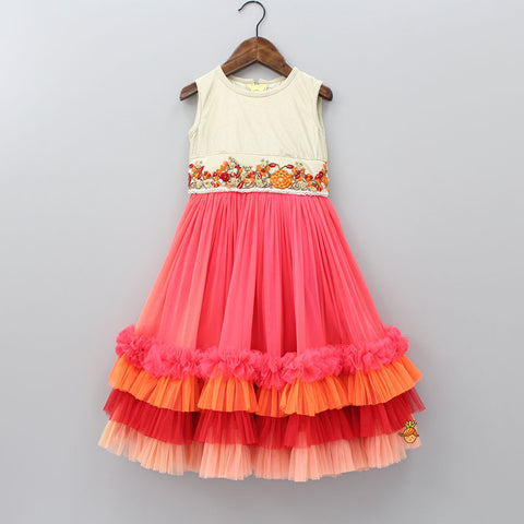 Pre Order: Multi Layered Frilly Net Dress