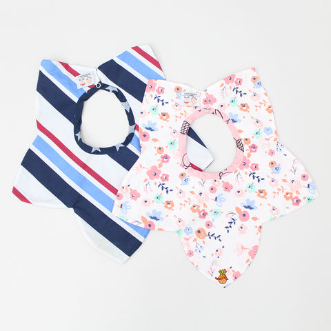 Star Shape Bibs - Set Of 2
