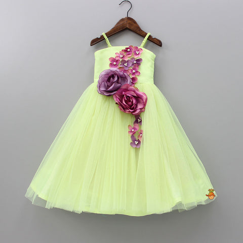 Pre Order: Light Green Floral Gown