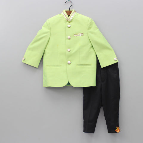 Pre Order: Green Sherwani With Pant