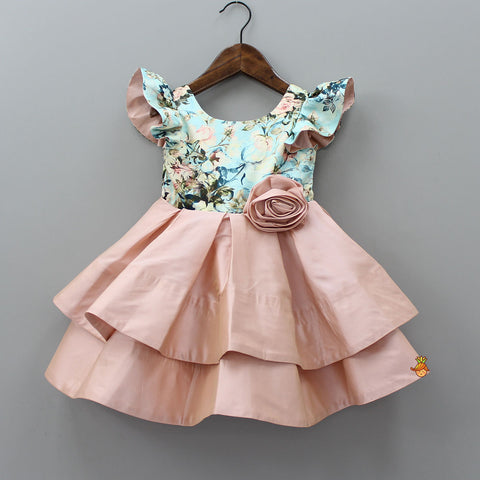 Pre Order: Peach Layered Dress