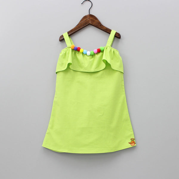 Pre Order: Light Green A Line Organic Dress