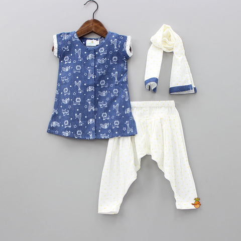 Organic Denim Patiyala Set