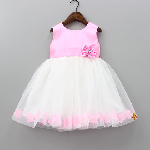 Pre Order: Pink And White Flower Dress