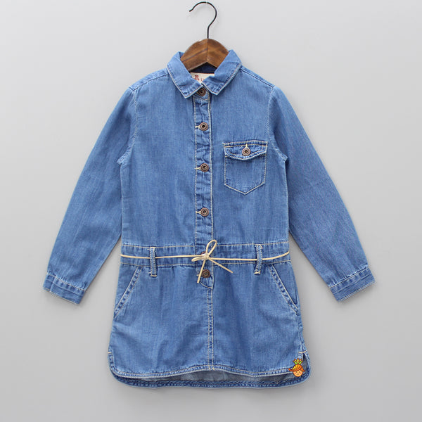 Blue Denim Tunic With String