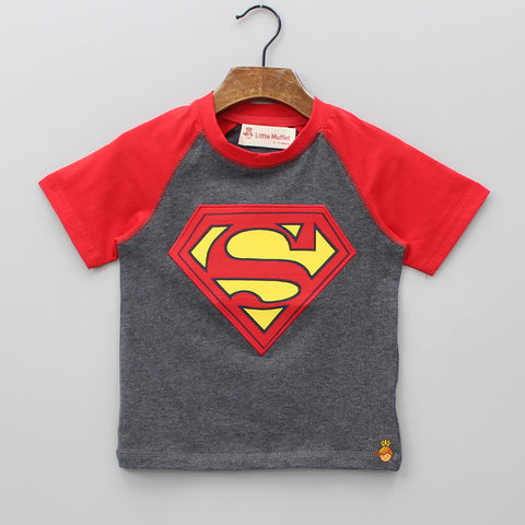 Grey Super Hero Tee