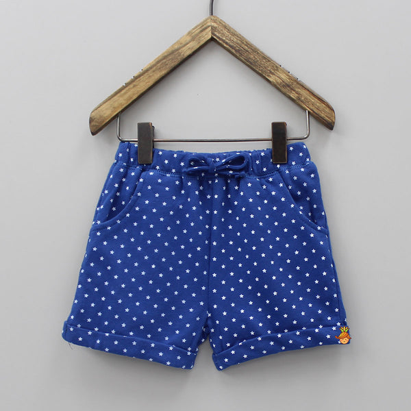 Blue Star Print Shorts