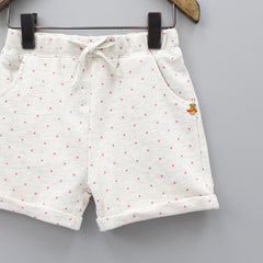 Off-White Polka Shorts