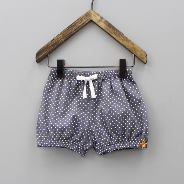 Grey Polka Print Briefs