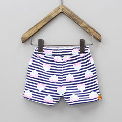 Heart Printed Stripy Short