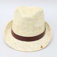 Stylish Yellow And White Hat
