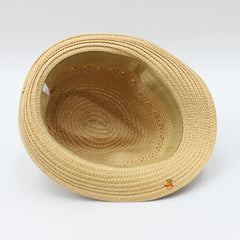 Light Brown Hat With Brown Band
