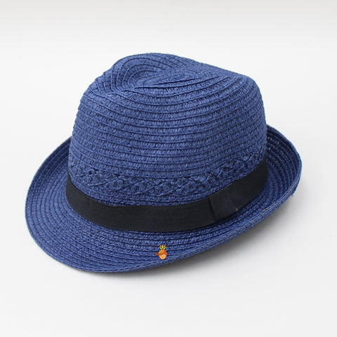 Navy Blue Hat with Black band