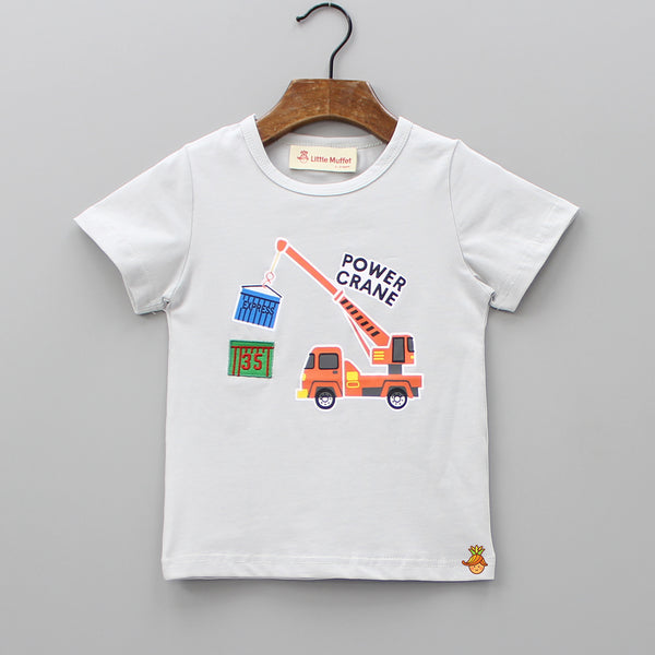 Grey Power Crane Tee