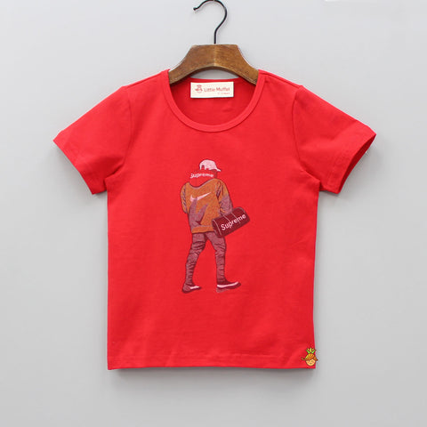 Red Supreme Tee