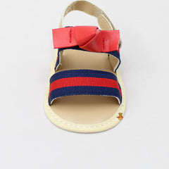 Red And Navy Blue Striped Sandal