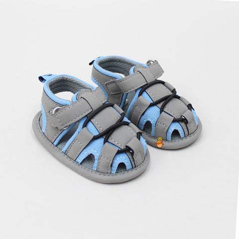 Blue And Grey Sandals