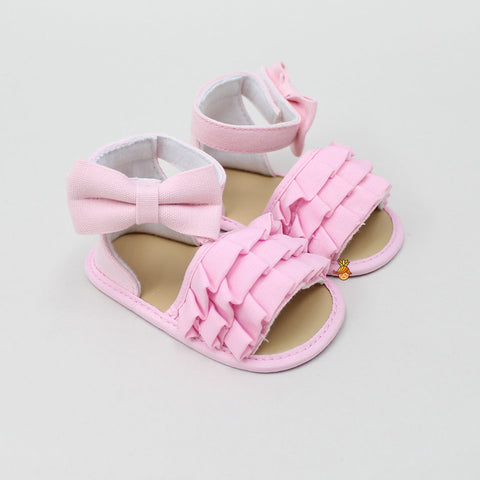 Pink Frilly Bow Sandal