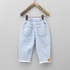 Sequin Patch Denim 3/4th Jeans