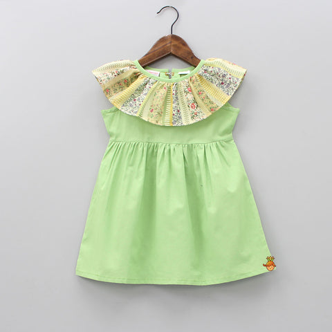 Pre Order: Green Ruffles Dress