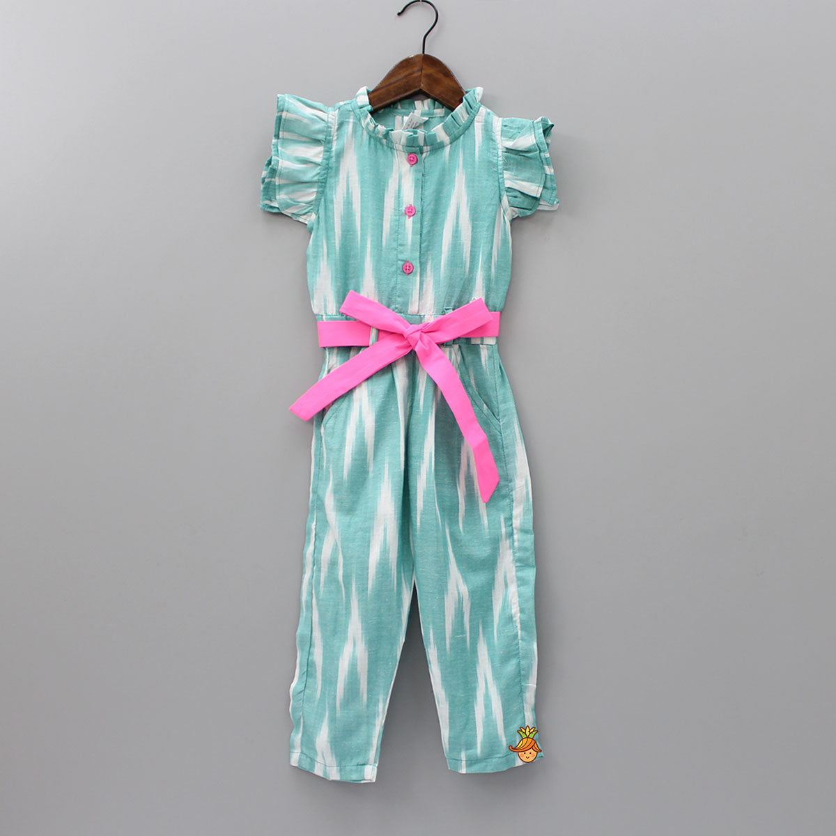 Green Ikat Jumpsuit