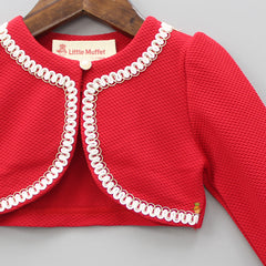 Lacy Red Shrug