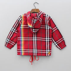 Red Hoodie With Checks