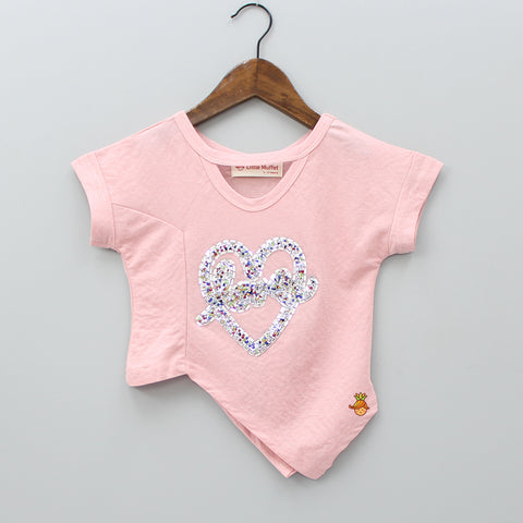 Champagne Pink Hearty Love Top