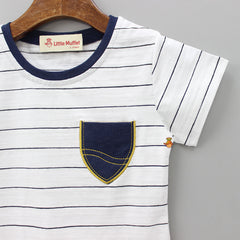 Stripy White Tee