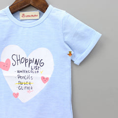 Blue Shopaholic Top