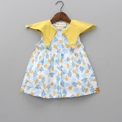 Pears Print Dress With Underpant