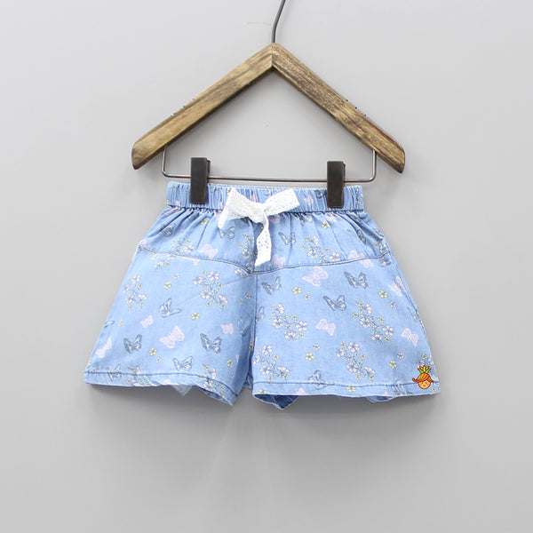 Butterfly Print Blue Shorts