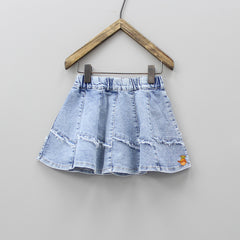 DEnim Blue Thigh Length Skirt