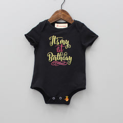 First Birthday - 4 Piece Bodysuit Set