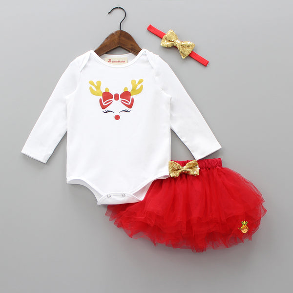 Reindeer Love - 3 Piece Bodysuit Set