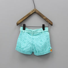 Knotty Aqua Blue Shorts