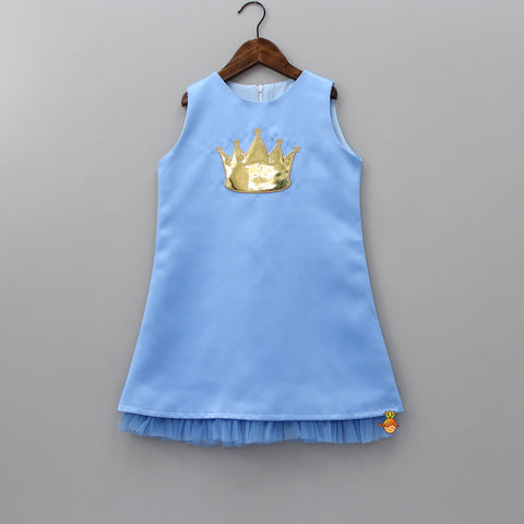Light Blue Princess Crown Dress