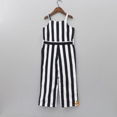 Black And White Stripped Jumpsuit